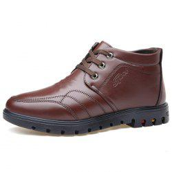 Men's Shoes Plush Warm Leather -
