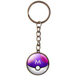 Metal Time Gemstone Keychain -