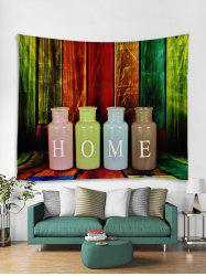 HOME Wood Grain Print Tapestry Wall Hanging Decoration -