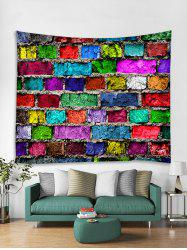 Colorful Brick Print Tapestry Wall Hanging Decor -