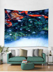 Christmas Tree Bell Print Tapestry Wall Hanging Art Decoration -