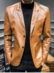 Men Slim Business Style Fashionable Leather Jacket -