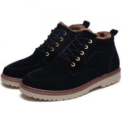 Men Brushed Thickening Warming Stylish High-top Boot -
