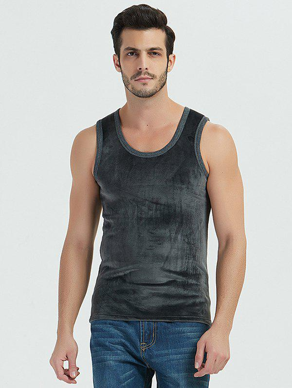 Affordable Autumn / Winter Man Warm Double-faced Velvet Thickening Solid Color Vest