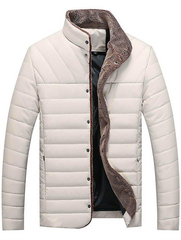 Automne Hiver Collier Self-cultivation Warm Men Cotton Jacket