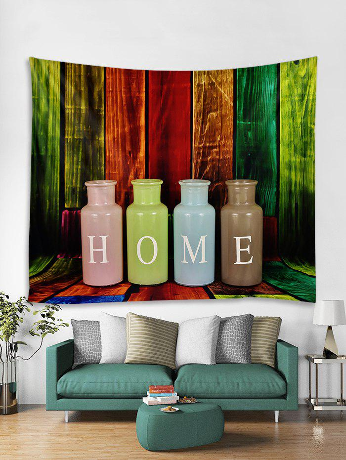 Store HOME Wood Grain Print Tapestry Wall Hanging Decoration