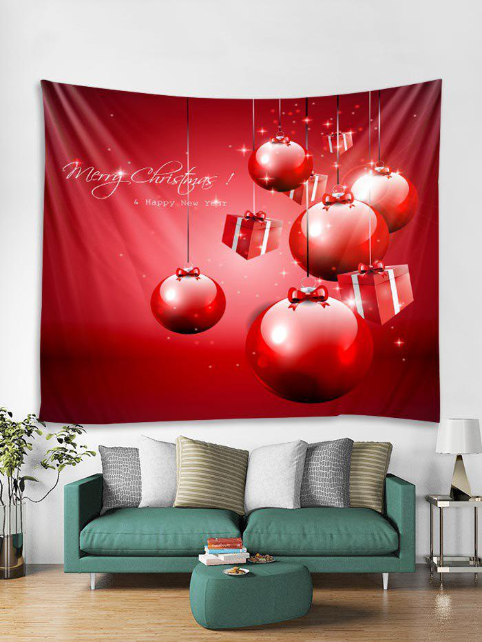 New Christmas Balls Gifts Print Tapestry Wall Hanging Art Decoration
