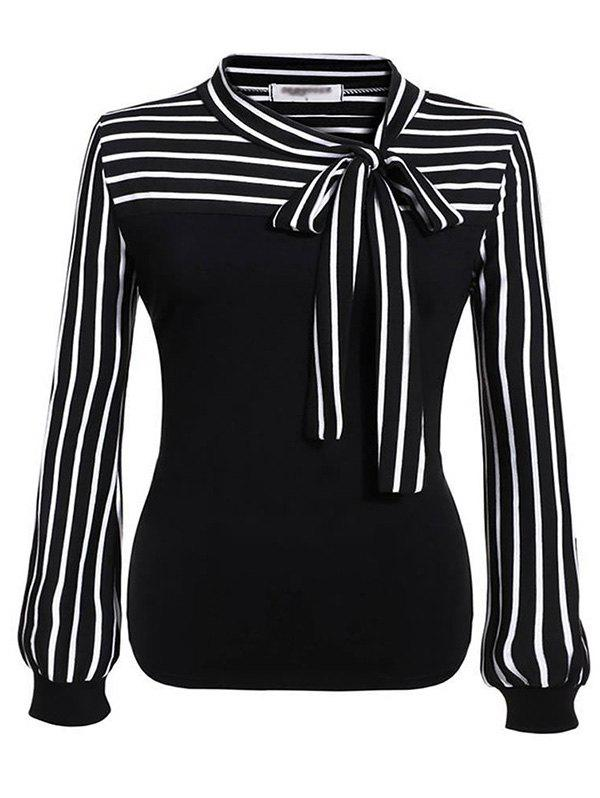 Discount HQ0018 Women Loose Long Sleeve Fashionable Stripe Blouse
