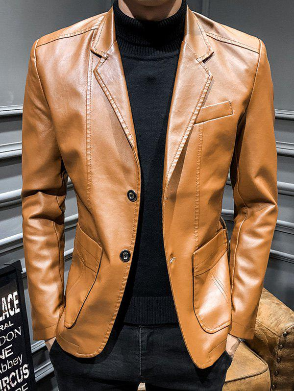 Sale Men Slim Business Style Fashionable Leather Jacket