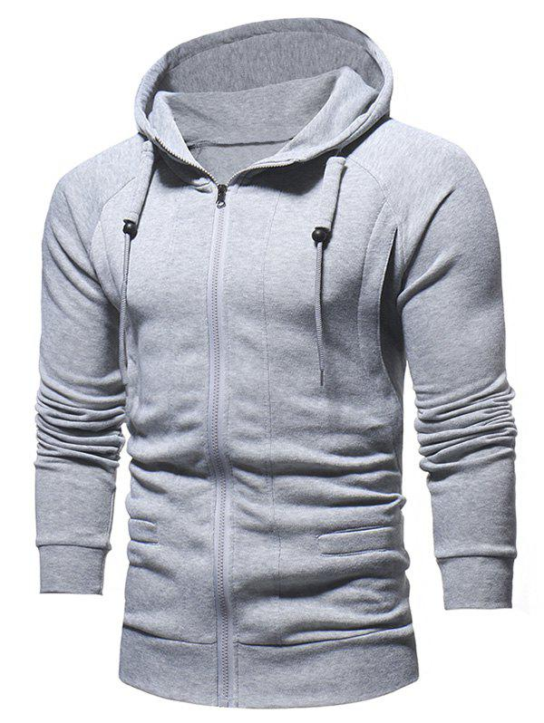Sale Slimming Zip Fly Drawstring Hoodie