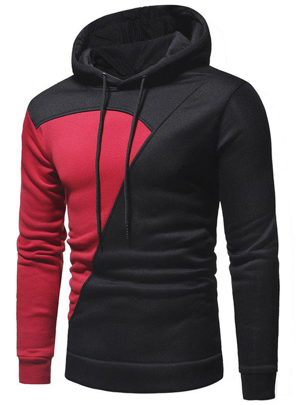 Outfits Color Block Design Pullover Hoodie