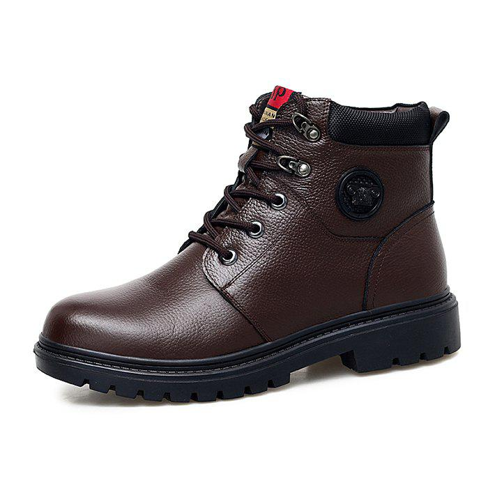 Latest Leather High-top Leather Cotton Boots