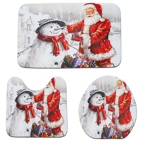 Amazing Christmas Decoration Carpet Toilet Seat Cover Floor Bathroom Mat Set Gmtry Best Dining Table And Chair Ideas Images Gmtryco