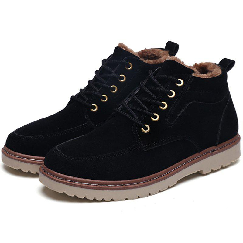 Online Men Brushed Thickening Warming Stylish High-top Boot