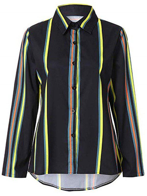Outfits HQ0022 Women Loose Long Sleeve Fashionable Stripe Blouse
