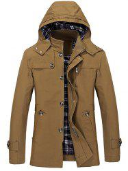 Men's Simple Long Trench -