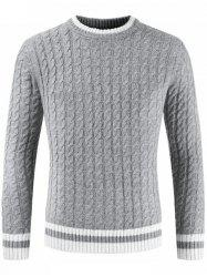 Men Long Sleeve Round Neck Sweater -