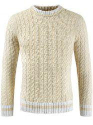 Pull col rond manches longues hommes -