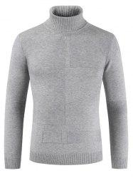 Autumn Winter Men Solid Color High Collar Sweater -