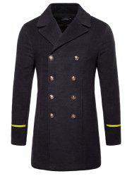 Simple Long Men's Woolen Coat -