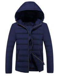 Fashion Hooded Men's Cotton Coat -