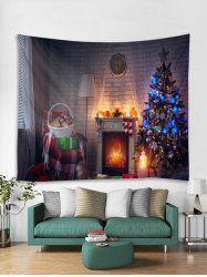 3D Christmas Tree Gift Printed Tapestry Art Decoration -