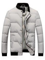 Japanese Tide Solid Color Casual Youth Large Size Men Down Cotton Coat -