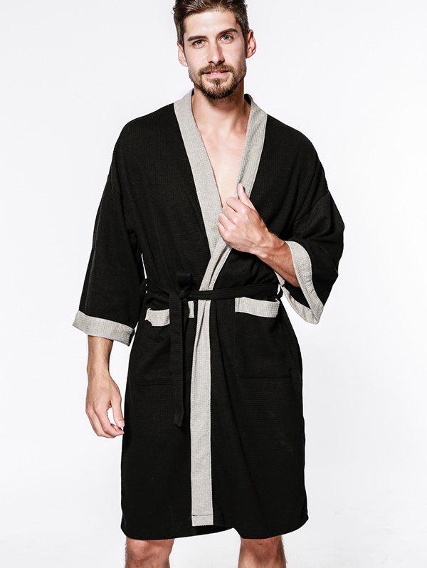 Latest Cotton Men Waffle Robe Bathrobe Sweat Sauna Towel
