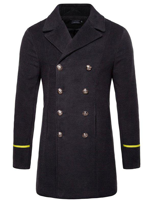 Shop Simple Long Men's Woolen Coat