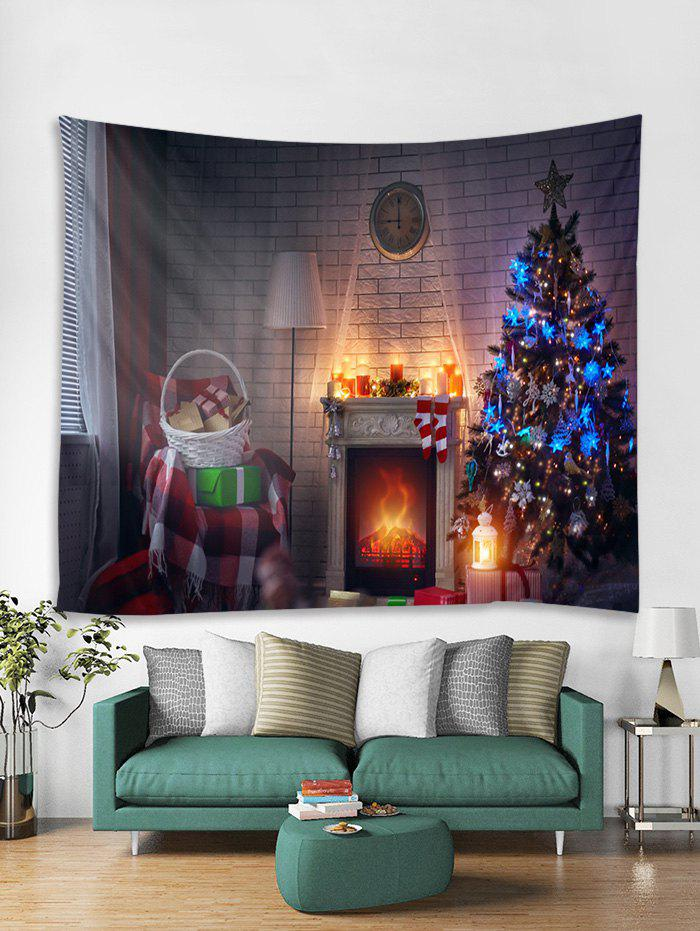 Hot 3D Christmas Tree Gift Printed Tapestry Art Decoration