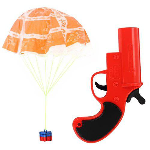 Shops Airdrop Signal Shooting Tool Launch Parachute Toy Set for Unknown Ground Survival Game