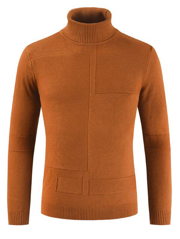Best Autumn Winter Men Solid Color High Collar Sweater