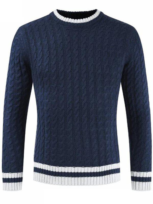 Sale Men Long Sleeve Round Neck Sweater