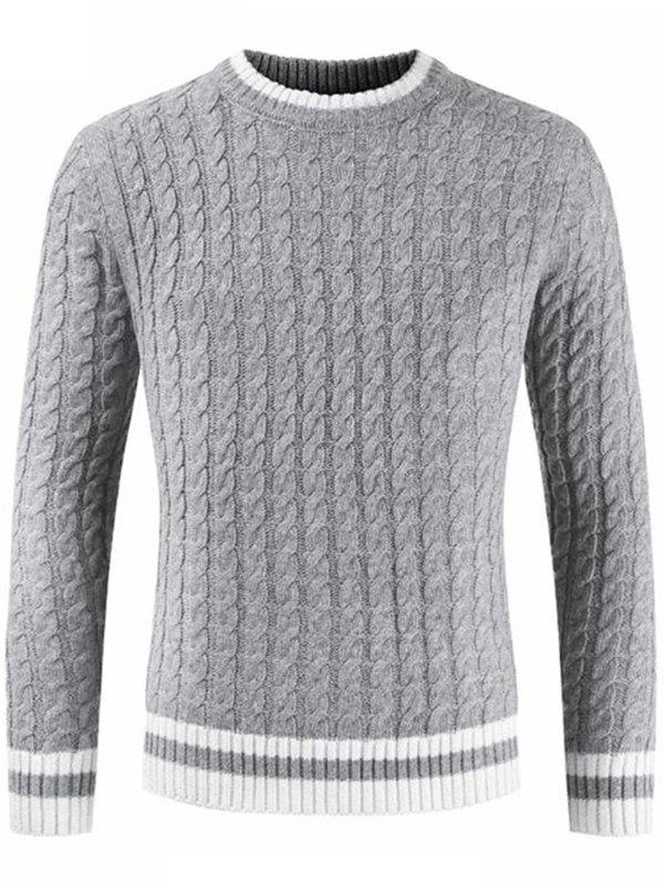 Pull col rond manches longues hommes