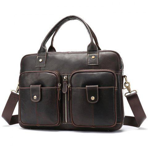 MVA 8539 Men s Crazy Horse Leather Business Briefcase Retro Laptop Shoulder  Crossbody Bag e1225d2164