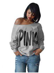 Women's European And American Street Tops Printed Long Sleeve Wide Round T-Shirt -