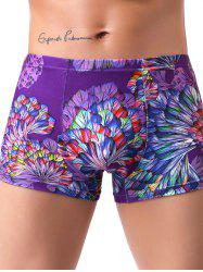 Milk Silk Boxer Low Waist Colorful Printed Men's Underwear -