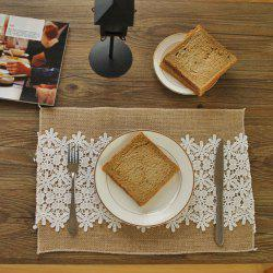 Vintage Anti-dirty Lace Cloth Tea Table Christmas Decoration Photo Background Double Layer Placemat -