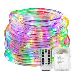 10m 100-LED Waterproof LED String Light with Remote Control for Decoration -