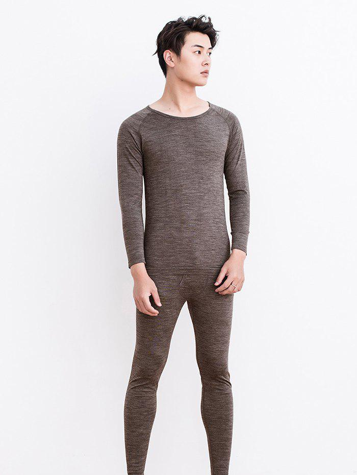 Sale Wool Coffee Carbon Thermal Underwear Suit for Men from Xiaomi youpin