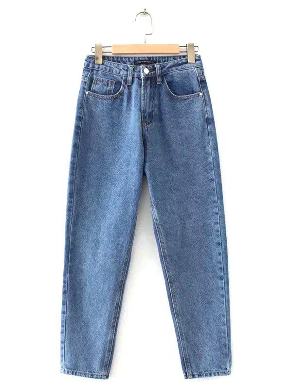 Best Ladies Casual High Waist Straight Jeans