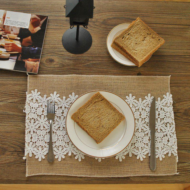 Trendy Vintage Anti-dirty Lace Cloth Tea Table Christmas Decoration Photo Background Double Layer Placemat