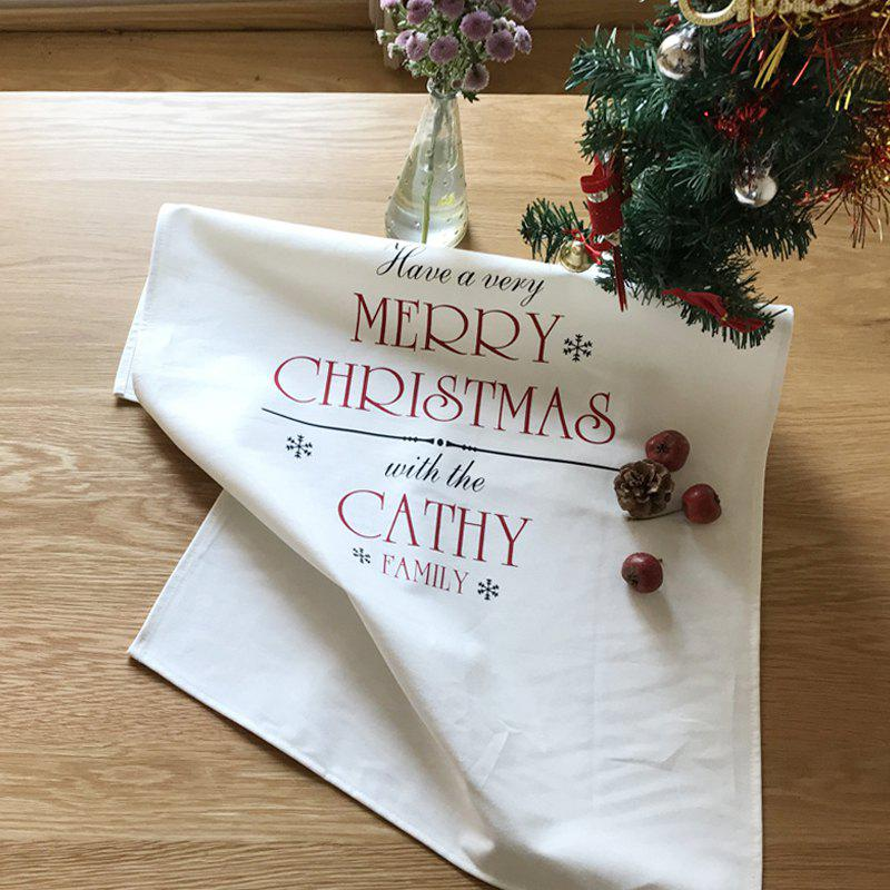 Shop Christmas Cotton Napkins Oil-proof Anti-fouling Anti-dirty Tea Towel Cover Double-layer Placemat