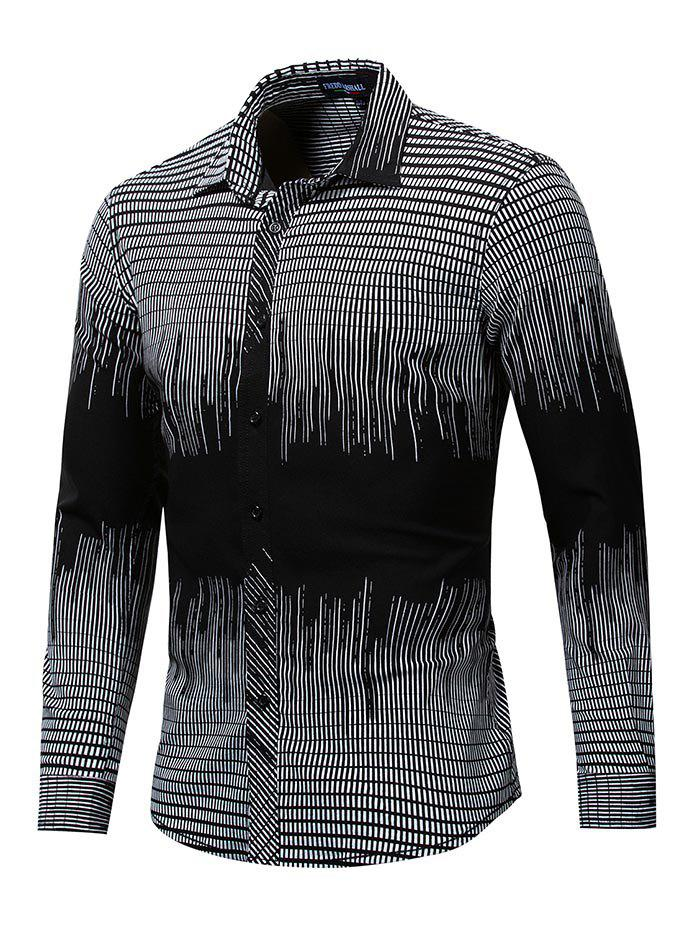 FREDD MARSHALL Chemise Casual à manches longues pour hommes