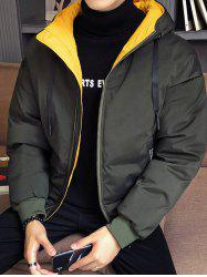 Large Autumn And Winter Men Thickening Casual Hooded Youth Jacket -