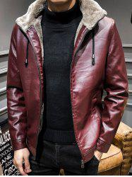 Casual Thick Warm PU Leather Jacket -