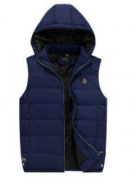 186 - A532 Winter Casual Youth Men Hooded Large Size Cotton Vest -