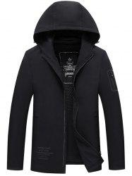 Middle-aged Cotton Casual Men Hooded Warm Cardigan Jacket -