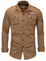 FREDD MARSHALL FM115 Men's Casual Long-sleeved Tooling Outdoor Shirt -