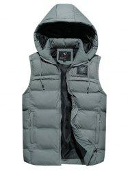 8806 - A532 Winter New Men Korean Youth Large Size Hooded Cotton Down Vest -